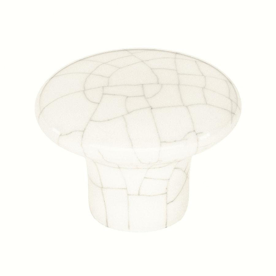 Siro Designs Baton Rouge Crackled White Round Cabinet Knob