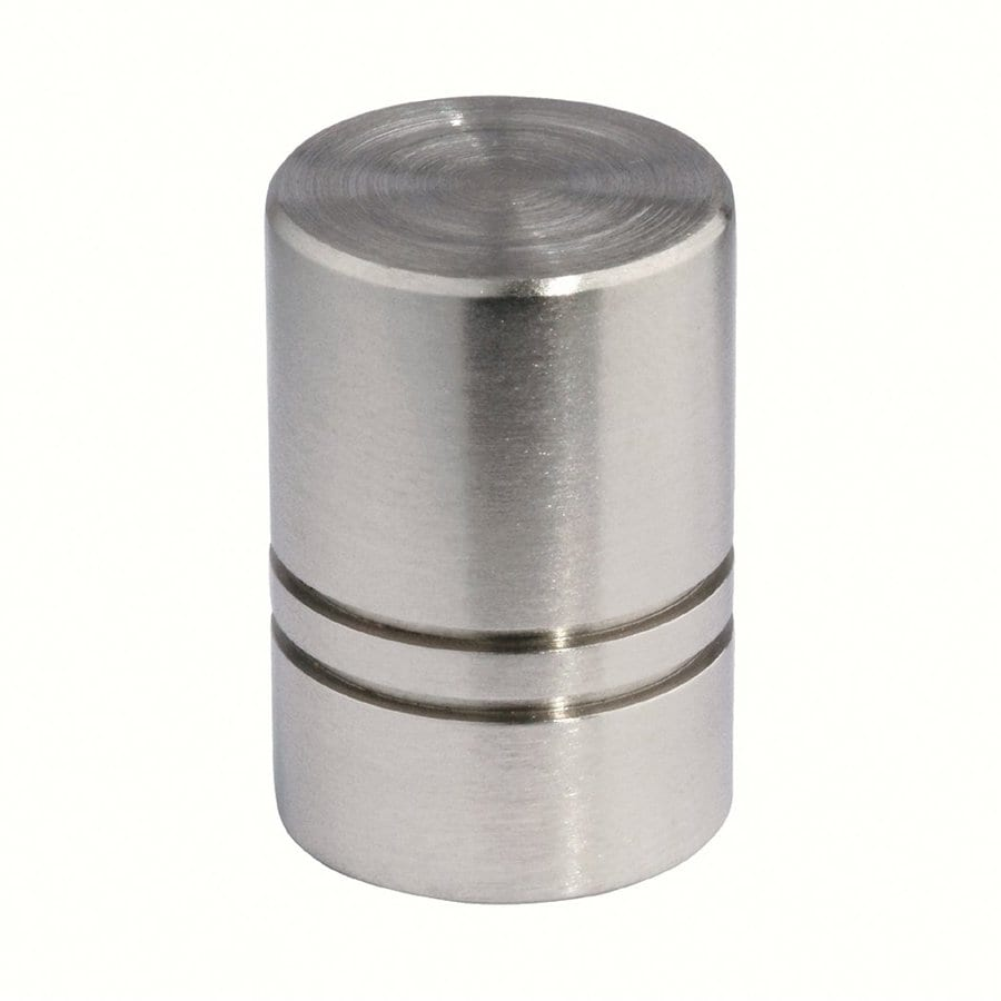 Siro Designs Stainless Steel Fine Brushed Steel Round Cabinet Knob