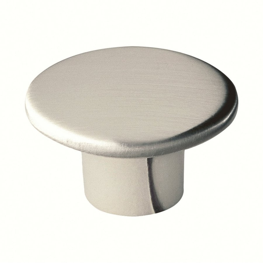 Siro Designs Reno Fine Brushed Nickel Round Cabinet Knob