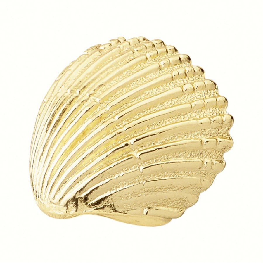 Siro Designs Ocean Line Bright Brass Novelty Cabinet Knob