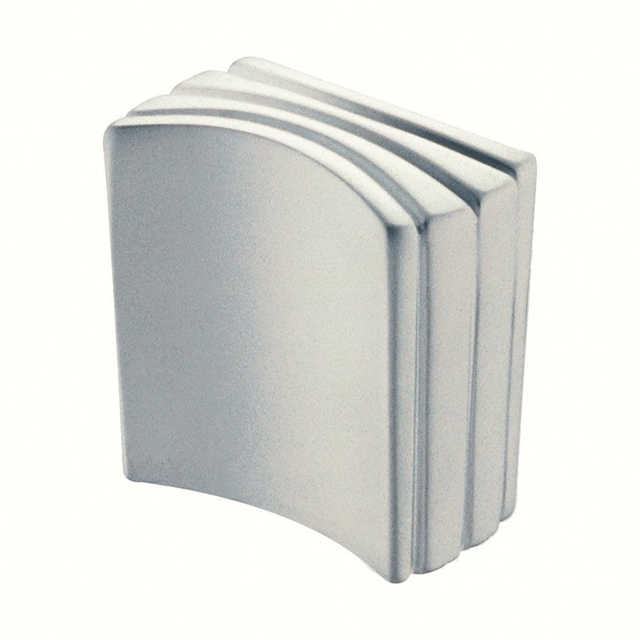 Siro Designs Dots and Stripes Matte Chrome Rectangular Cabinet Knob