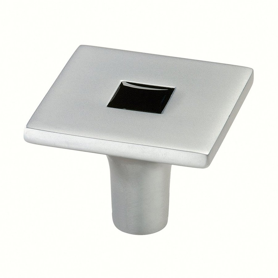 Siro Designs Rio Matte Chrome/Black Square Cabinet Knob