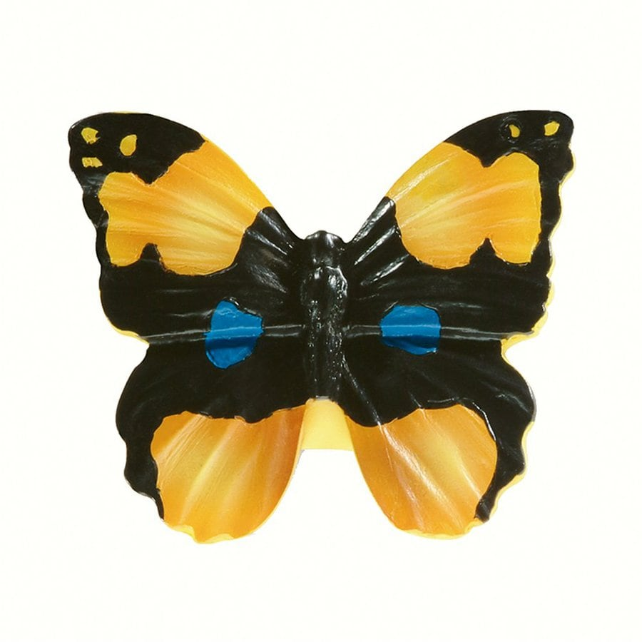 Siro Designs Butterflies Black/Yellow with Blue Dots and Stripes Novelty Cabinet Knob