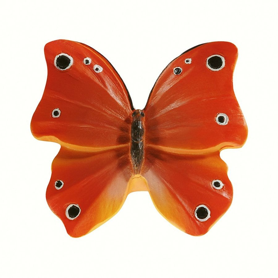 Siro Designs Butterflies Red/Orange with Black/White Dots and Stripes Novelty Cabinet Knob
