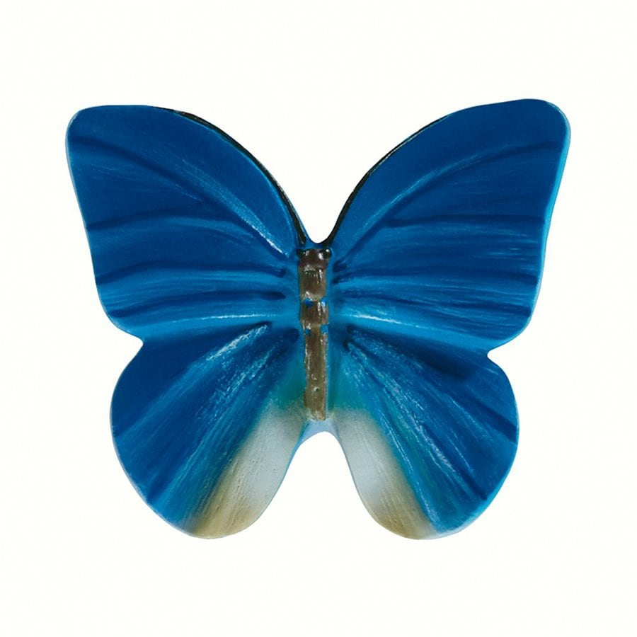 Siro Designs Butterflies Blue with Gray Novelty Cabinet Knob