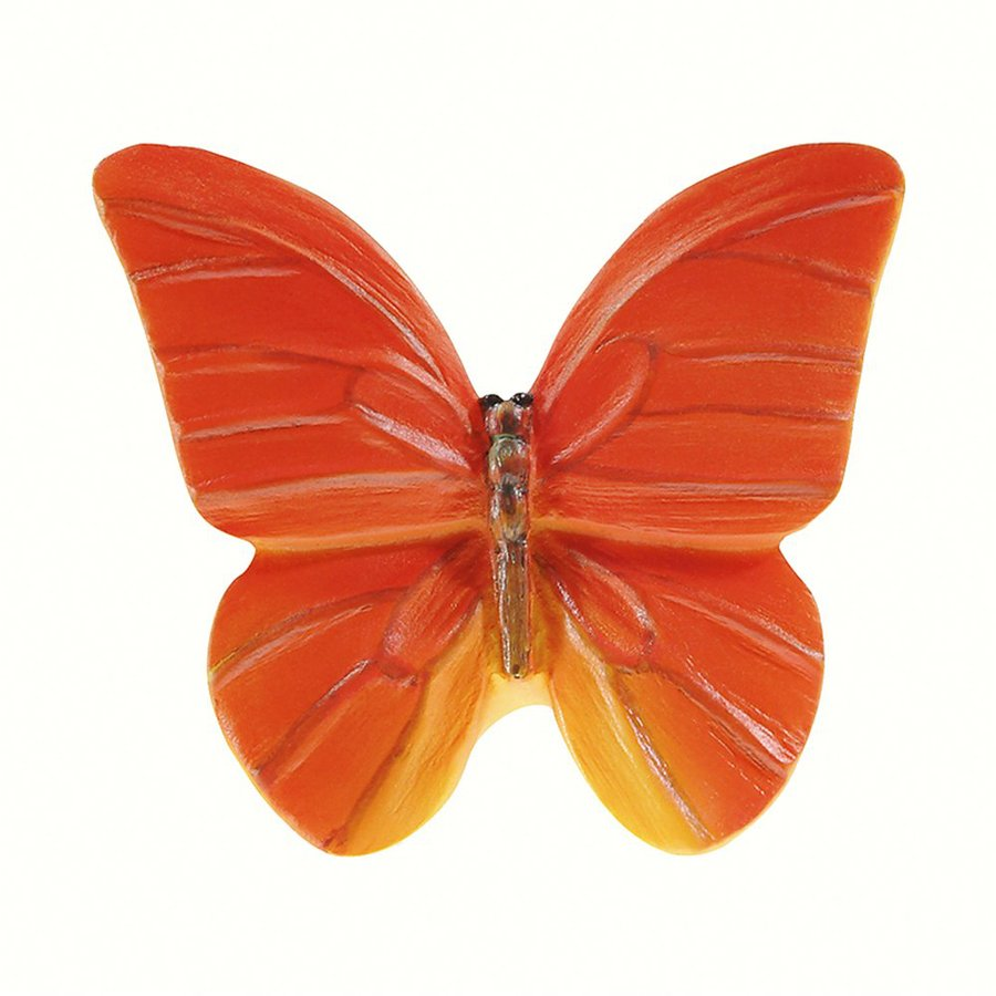 Siro Designs Butterflies Red-Orange with Yellow Novelty Cabinet Knob