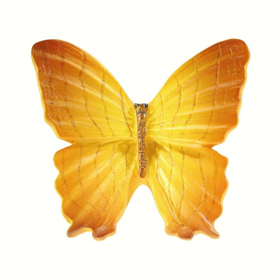Siro Designs Butterflies Yellow with Light Brown Novelty Cabinet Knob