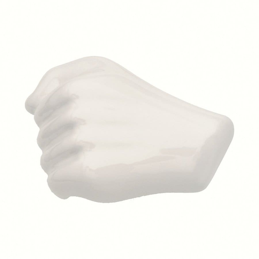 Siro Designs Body Line White Ceramic Novelty Cabinet Knob