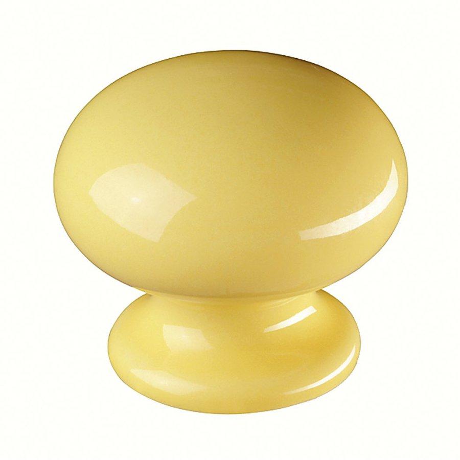 Siro Designs Botanico Yellow Round Cabinet Knob