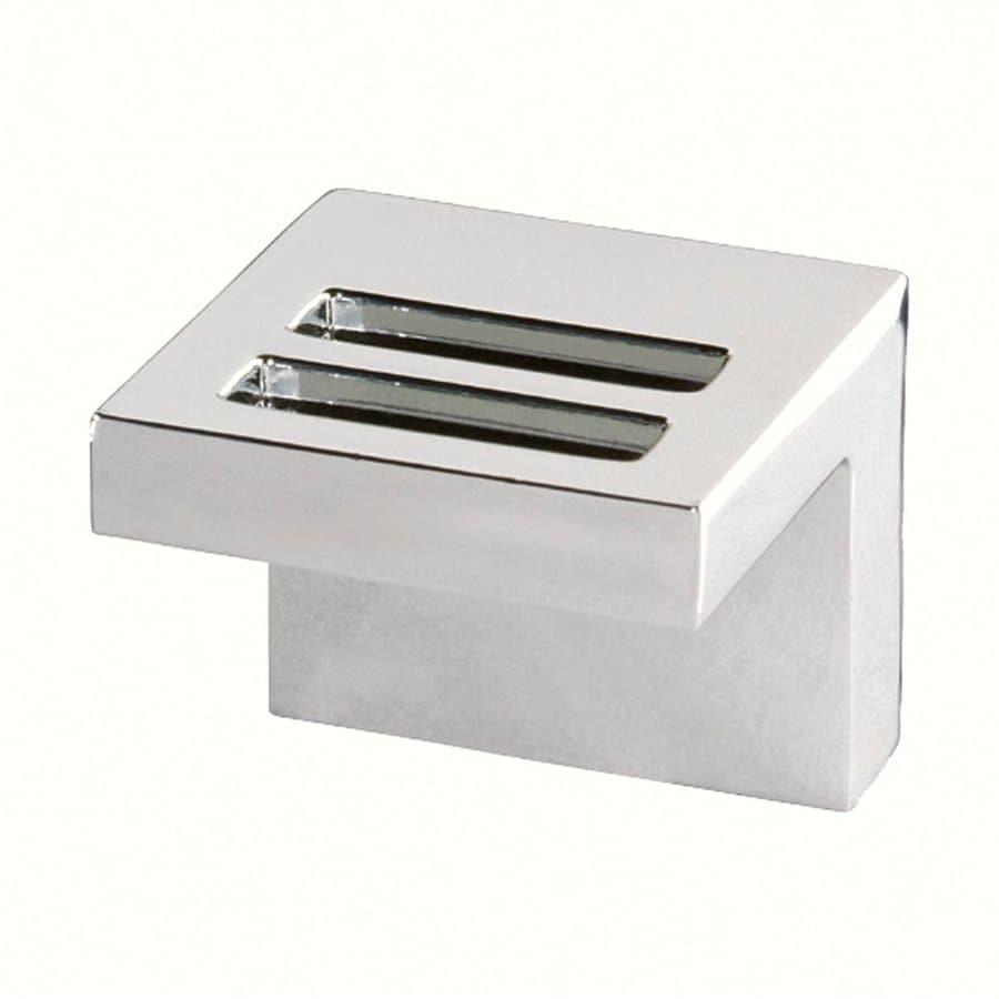 Siro Designs Milan Bright Chrome Square Cabinet Knob