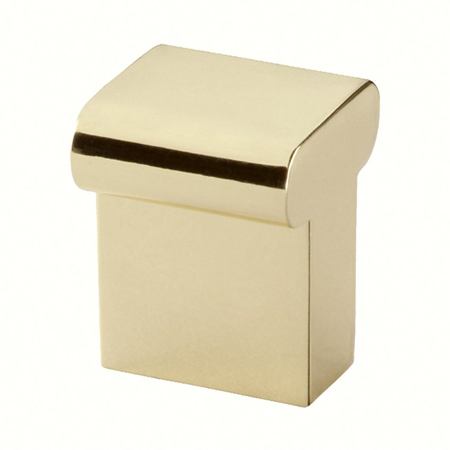 Siro Designs Milan Bright Brass Square Cabinet Knob
