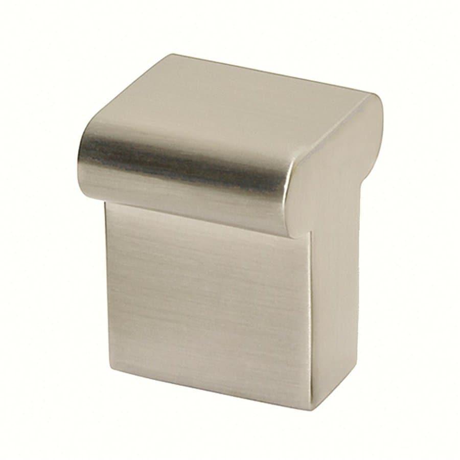 Siro Designs Milan Fine Brushed Nickel Square Cabinet Knob