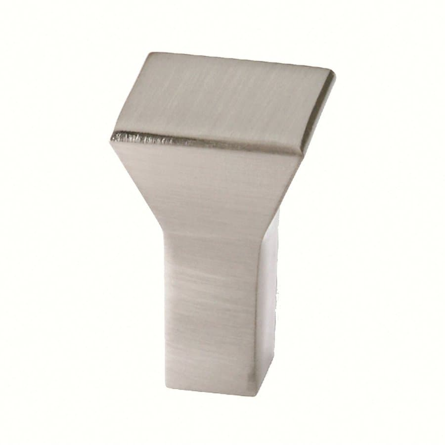 Siro Designs Eos Fine Brushed Nickel Square Cabinet Knob