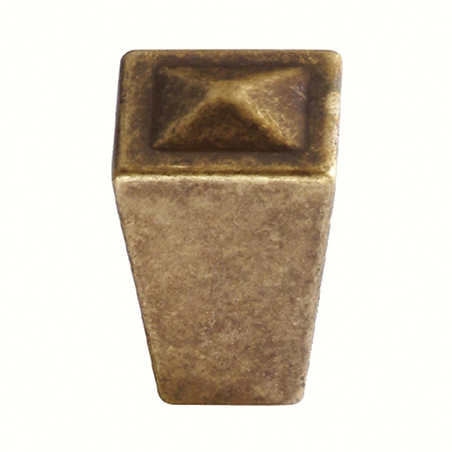 Siro Designs Merida Antique Brass Square Cabinet Knob