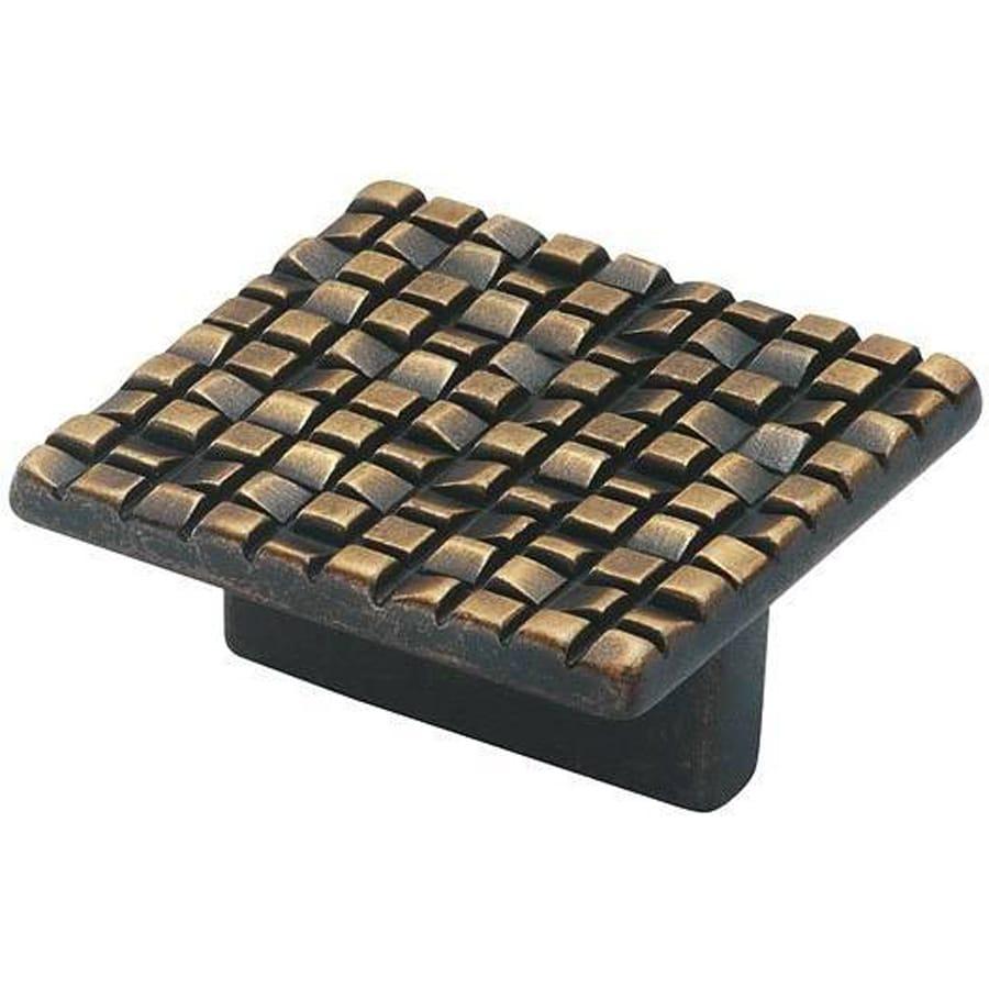 Siro Designs Mosaic Antique Bronze Square Cabinet Knob