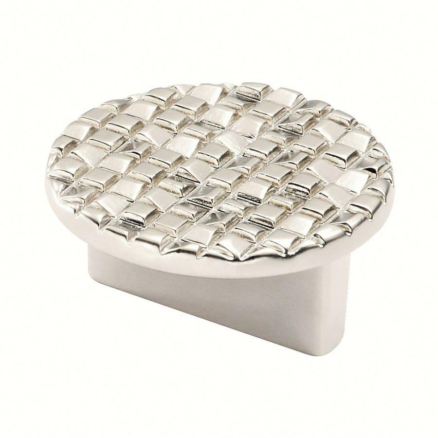 Siro Designs Mosaic Matte Nickel Round Cabinet Knob