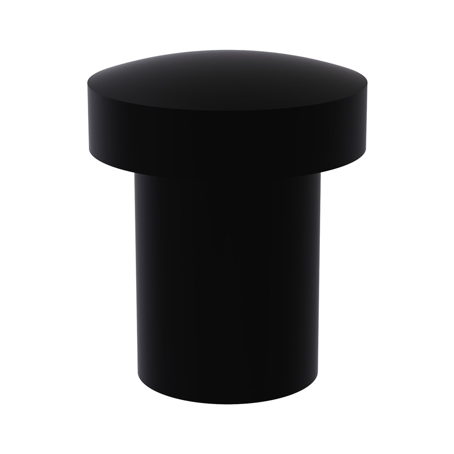 Allied Brass Matte Black Round Cabinet Knob