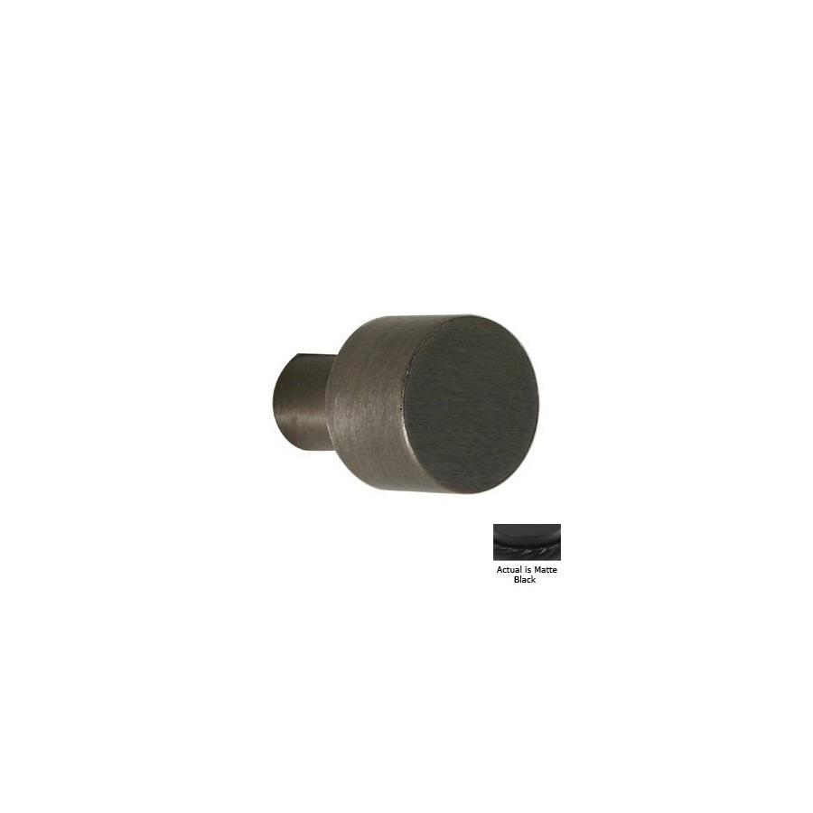 Allied Brass Matte Black Round Cabinet Knob
