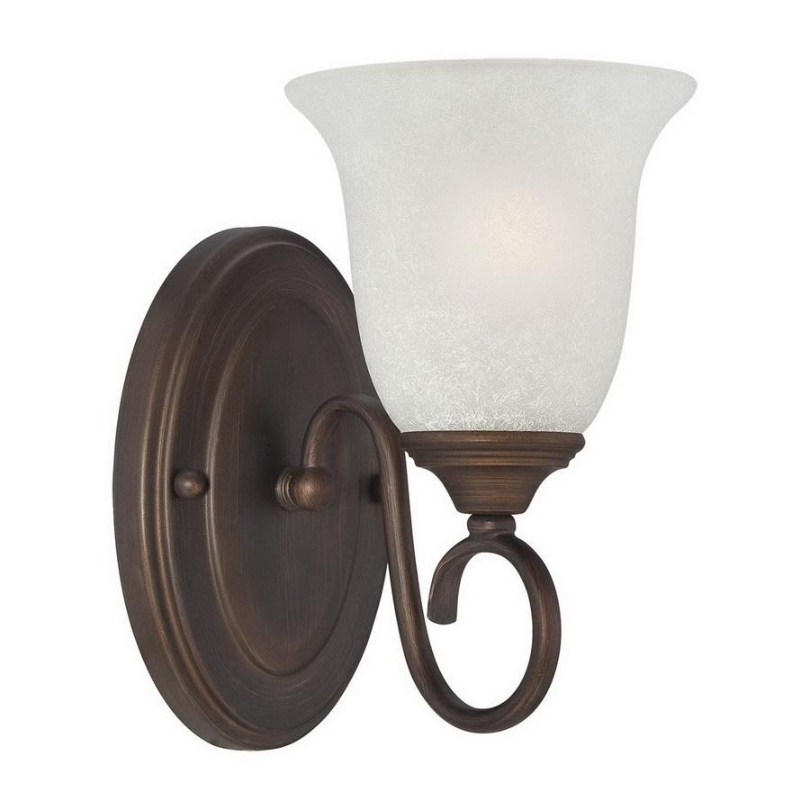 Millennium Lighting 5-in W 1-Light Rubbed Bronze Arm Hardwired Wall Sconce