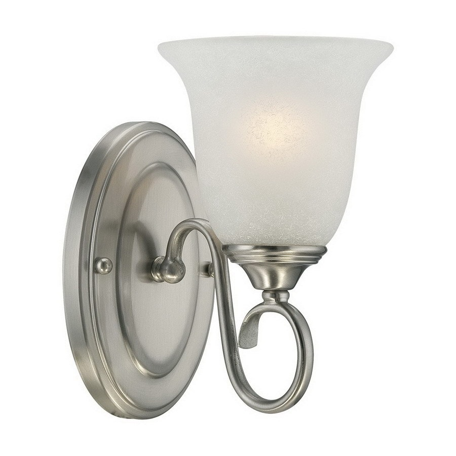 Millennium Lighting 5-in W 1-Light Satin Nickel Arm Wall Sconce
