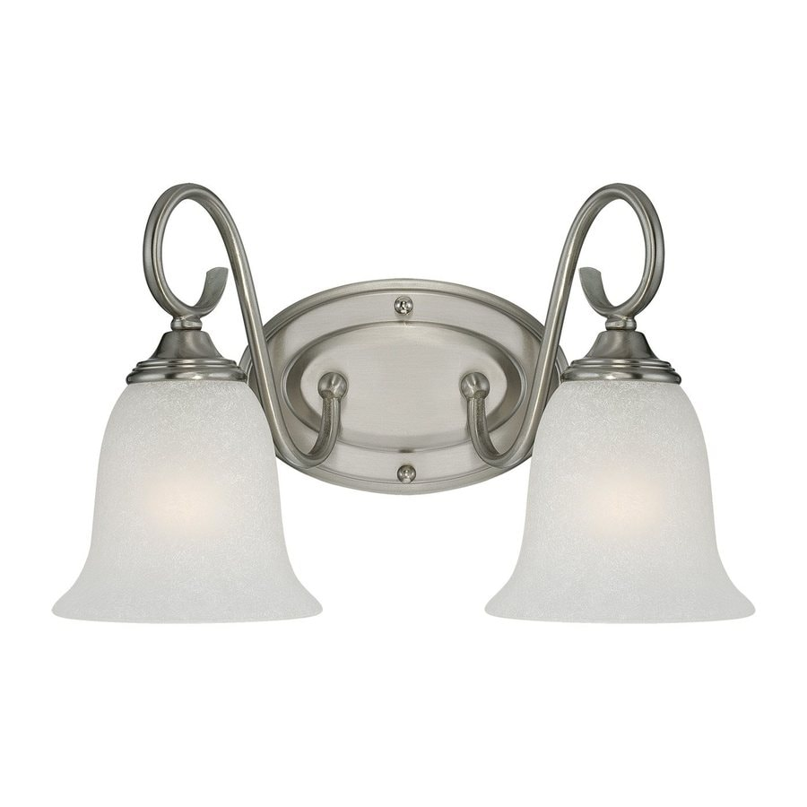 Millennium Lighting 2-Light 9-in Satin nickel Bell Vanity Light
