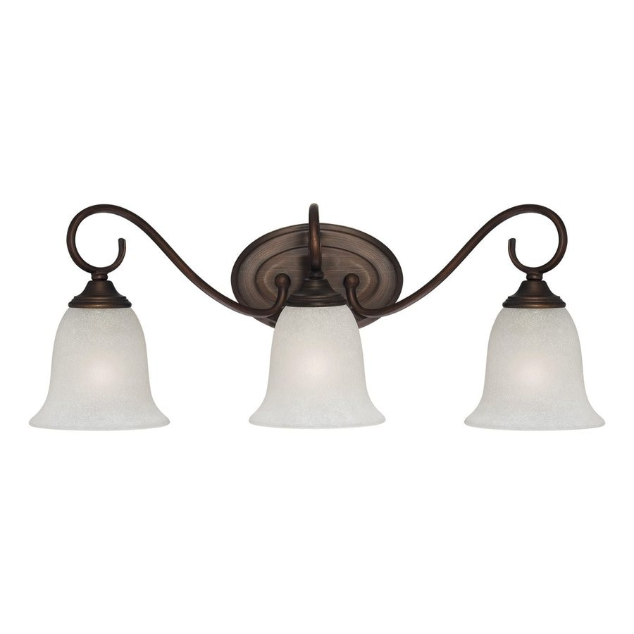 Millennium Lighting 3-Light 9-in Rubbed Bronze Bell Vanity Light