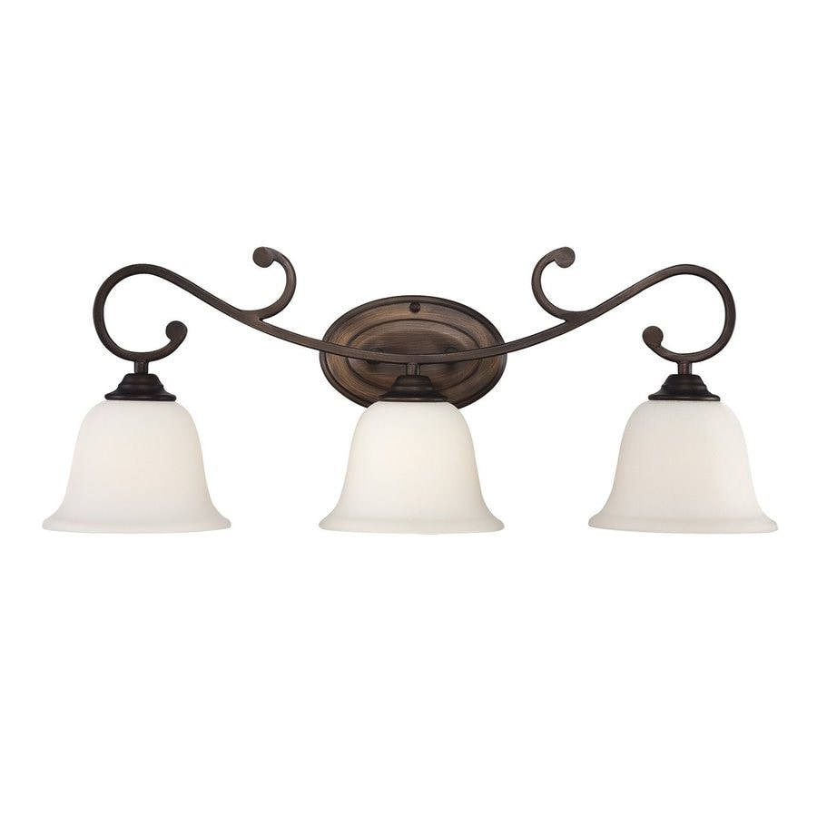 Millennium Lighting 3-Light 10-in Rubbed Bronze Bell Vanity Light