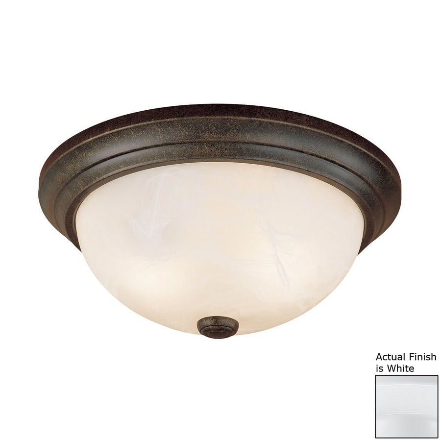 Millennium Lighting 11-in W White Ceiling Flush Mount Light