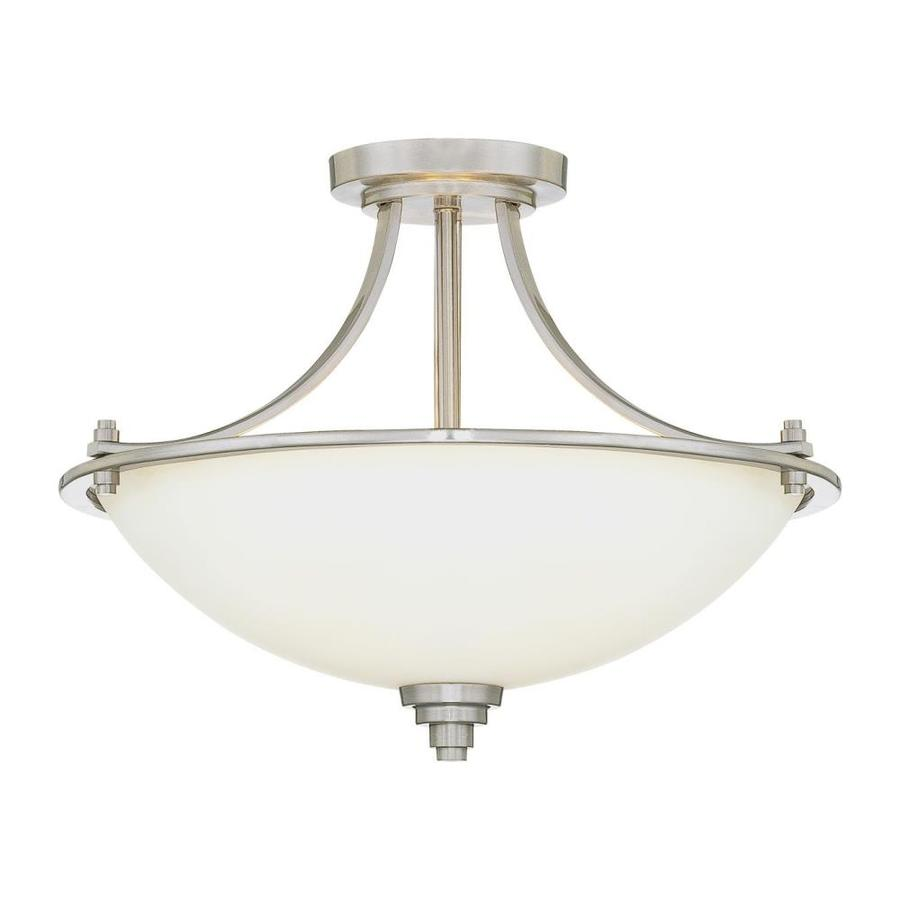 Millennium Lighting 17.5-in W Satin Nickel Semi-Flush Mount Light
