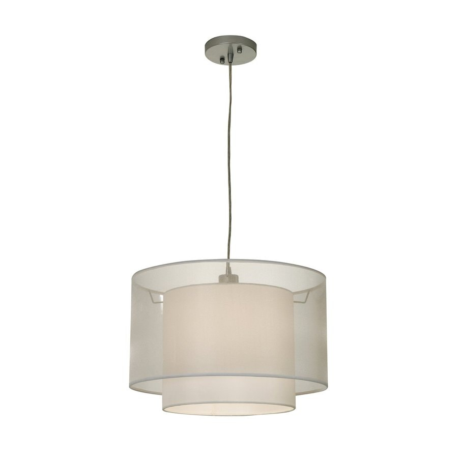 Trend Lighting Brella 18-in W Sheer Snow Pendant Light with Fabric Shade
