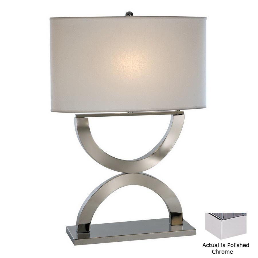 Trend Lighting 28-in Polished Chrome Table Lamp with Fabric Shade