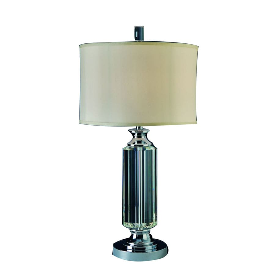 Trend Lighting 30-in Polished Chrome Crystal Table Lamp with Fabric Shade