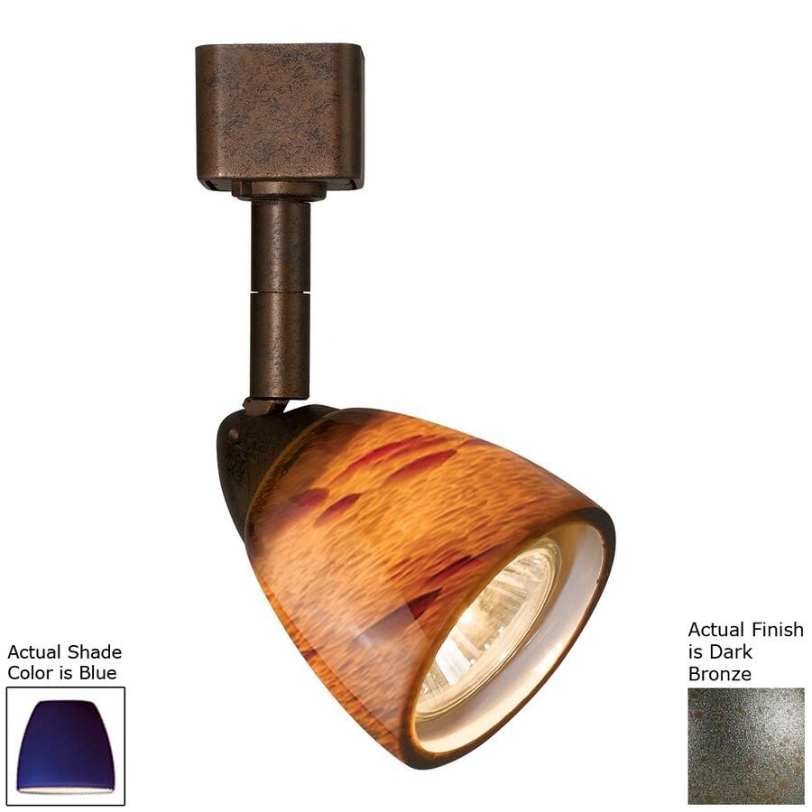 Cal Lighting 1-Light Dark Bronze/Blue Pinhole Linear Track Lighting Head