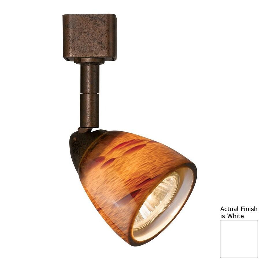 Cal Lighting 1-Light White/Amber Spot Pinhole Linear Track Lighting Head