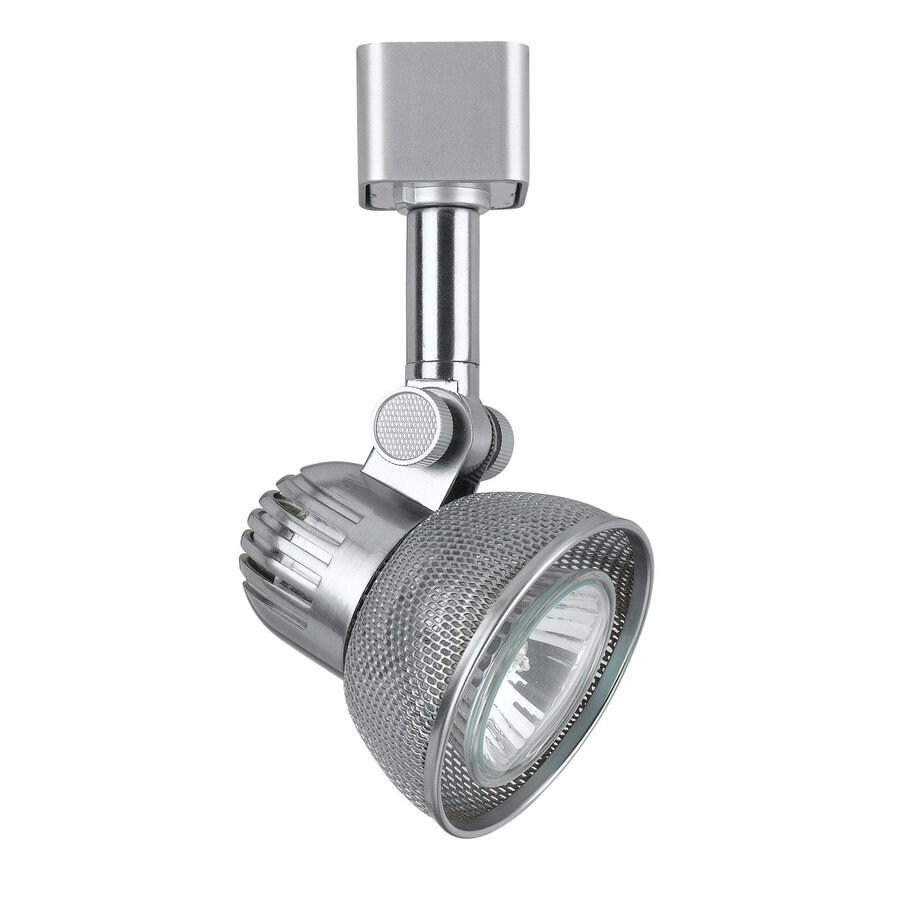 Cal Lighting 1-Light Brush Steel Roundback Linear Track Lighting Head
