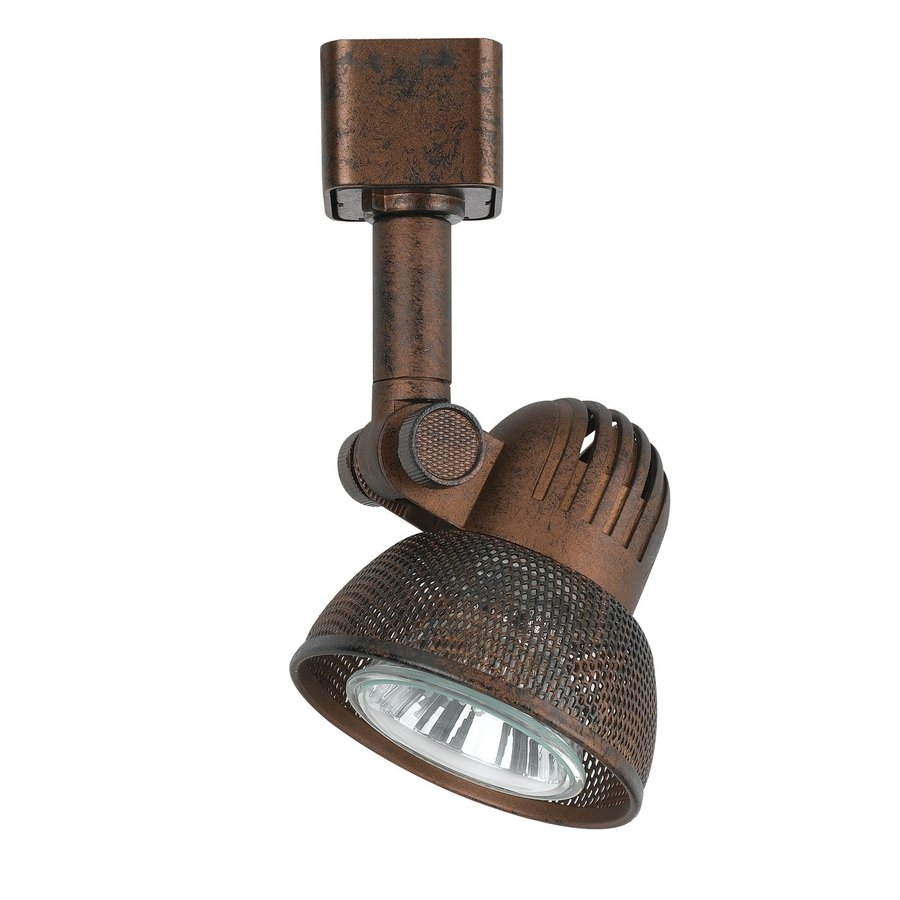 Cal Lighting 1-Light Rust Roundback Linear Track Lighting Head