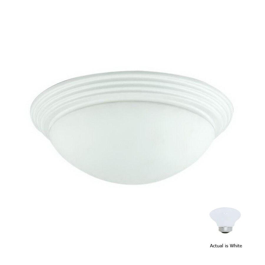 Cal Lighting 12-in W White Ceiling Flush Mount