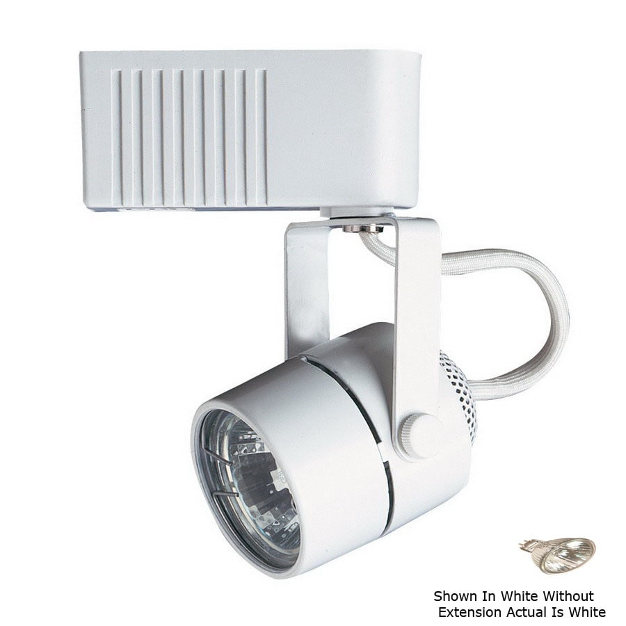 Cal Lighting White 2-Wire Connection Pinhole Linear Track Lighting Head