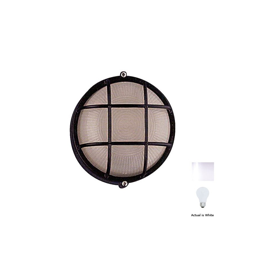 PLC Lighting Marine 8-in White Outdoor Wall Light