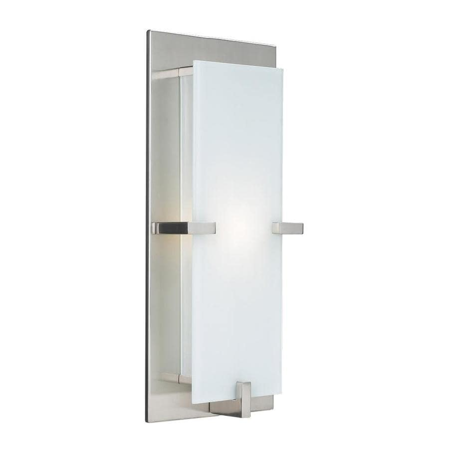 PLC Lighting Polipo 7-in W 1-Light Satin Nickel Pocket Hardwired Wall Sconce