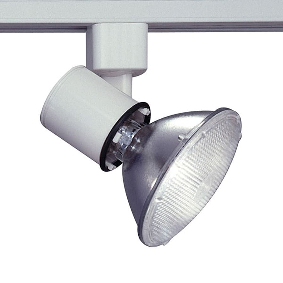 PLC Lighting Comet 1-Light Dimmable White Step Linear Track Lighting Head