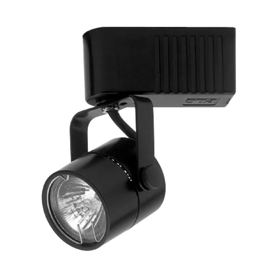 PLC Lighting Slick 1-Light Dimmable Black Flat Back Linear Track Lighting Head