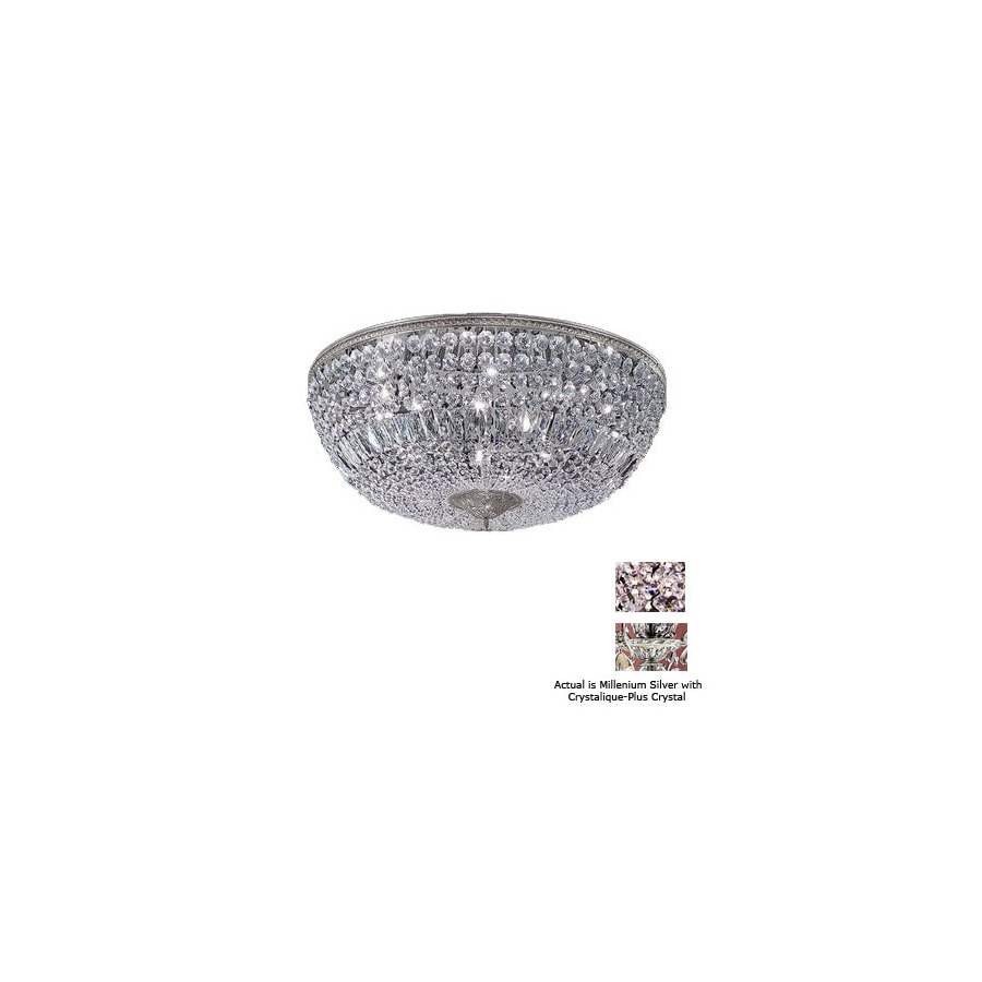 Classic Lighting 48-in Millennium Silver Crystal Ceiling Flush Mount