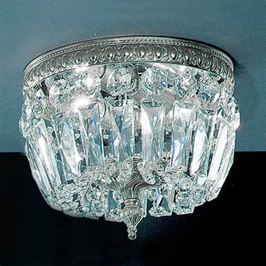 Classic Lighting Crystal Baskets 8-in W Chrome Crystal Ceiling Flush Mount Light