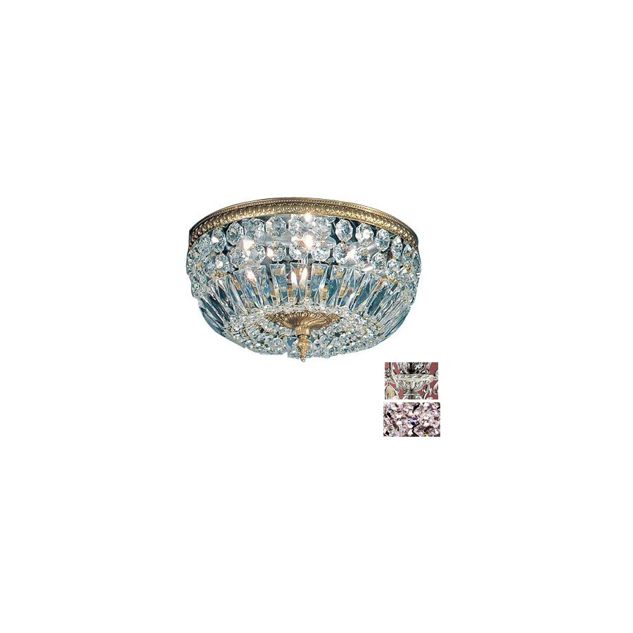 Classic Lighting 24-in Millennium Silver Crystal Ceiling Flush Mount