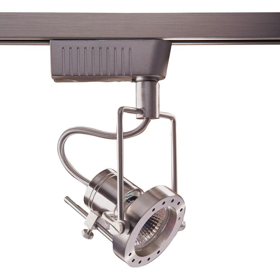 Kendal Lighting 1-Light Dimmable Satin Nickel Gimbal Linear Track Lighting Head