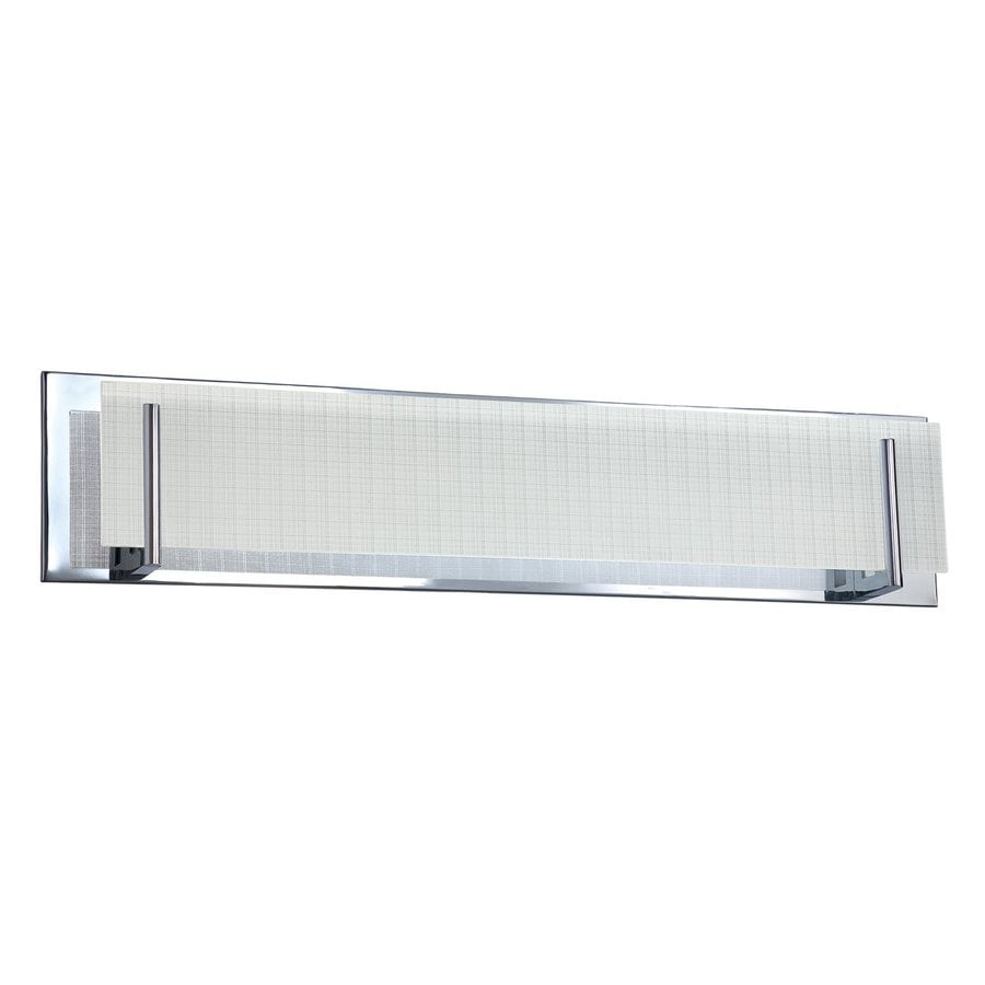 Kendal Lighting Aurora 1-Light Chrome Rectangle Vanity Light Bar