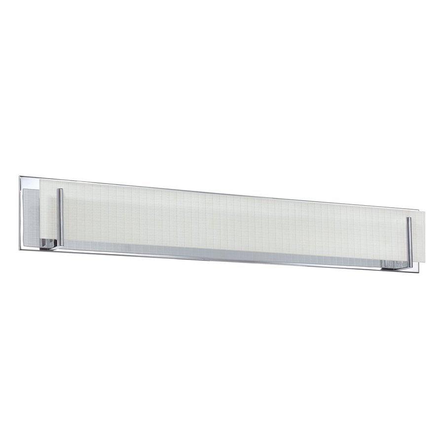 Kendal Lighting Aurora 1-Light 6.5-in Chrome Rectangle Vanity Light Bar