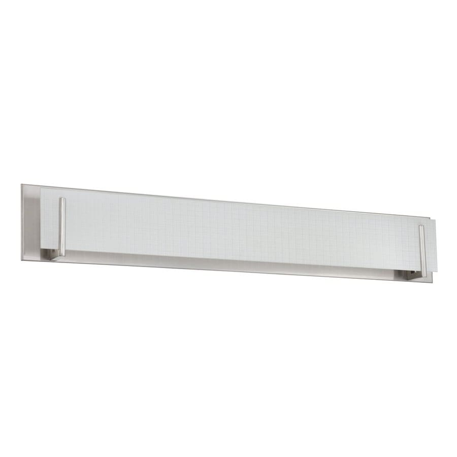 Shop Kendal Lighting Aurora 1-Light 6.5-in Satin nickel Rectangle Vanity Light Bar at Lowes.com