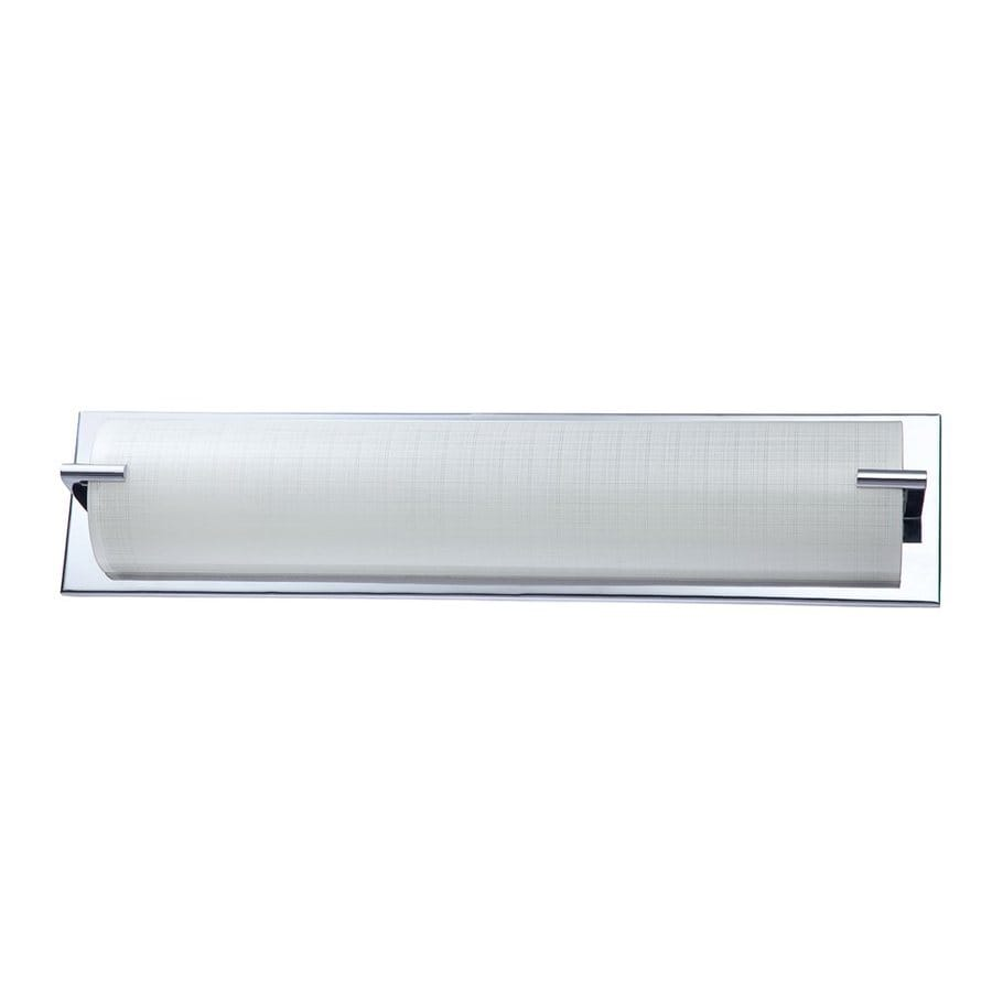 Vanity Light Bar Lowes : Shop Kendal Lighting Paramount 1-Light Chrome Rectangle Vanity Light Bar at Lowes.com